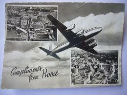 Avion / Airplane / Douglas DC-6 / Compliments From Rome - 1946-....: Era Moderna