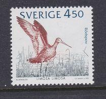 WATER BIRDS VÖGEL OISEAUX Black-tailed Godwit CHNEPFE Bon à Rien Limosa Limosa SWEDEN SUEDE 1992 MNH MI 1743 SLANIA - Gru & Uccelli Trampolieri