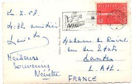 Yverdon 20.08.1957 - Courses Et Concours Hippiques - équitation - Cheval Horse Pferd - Marcophilie