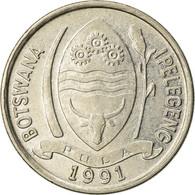 Monnaie, Botswana, 10 Thebe, 1991, TTB, Nickel Plated Steel, KM:5a - Botswana