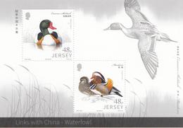 2016 Jersey Ducks Links With CHINA Souvenir Sheet MNH @below Face Value - Entenvögel