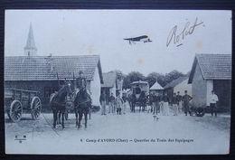 1916 Camp D'Avord 31eme Section, école D'aviation, Cachet Sur Carte Du Camp, Quartier Du Train D'équipage - Marcofilie (Brieven)