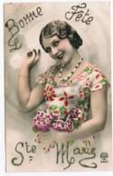 R037 - Bonne Fête - Ste Marie - Paillettes - Autres