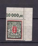 Danzig - 1923 - Michel Nr. 128 Y OR Ecke - Postfrisch - Danzig