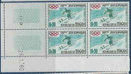 "Togo Coins Datés YT 300 "" JO D'hiver "" Neuf** Du 26.1.60 - Togo (1960-...)"