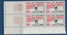 "Togo Coins Datés YT 301 "" JO D'hiver "" Neuf** Du 18.1.60 - Togo (1960-...)"