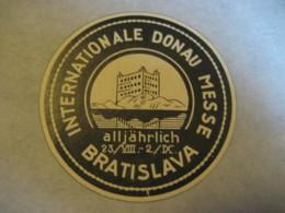 BRATISLAVA Internationale Donau Messe Poster Stamp Vignette SLOVAKIA Label Czechoslovakia - Slovacchia