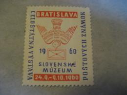 BRATISLAVA 1960 Celostatna Vystava Museum Poster Stamp Vignette SLOVAKIA Label Czechoslovakia - Slovacchia