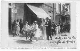 CARD PHOTO CARAGLIO NOZZE STUTZ-DEMARIA 1934 CORTEO DI BIMBI CON FIORI E SPOSI(CUNEO)DUE SCANNER -FP-V--2- 0882-29479-80 - Cuneo
