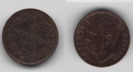 + ITALIE  + 1  CENTESIMO 1895  + TRES TRES BELLE + - 1861-1946 : Regno