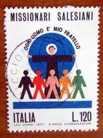 1977 ITALIA Religione Missionari Salesiani - Lire 120 Usato - 1971-80: Gebraucht