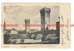FAENZA - ANTICO PONTE ROMANO SUL LAMONE  F/PICCOLO VIAGGIATA 1903? - Faenza