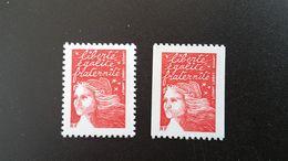 France Timbre NEUF N° 3417 ET 3418 - Année 2001  - Marianne De Luquet - Francia