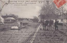 CHATILLON COLIGNY  PONT DU PUYRAULT CANAL DE BRIARE HALAGE - Chatillon Coligny