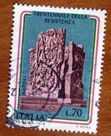 1975 ITALIA Monumento Triennale Della Resistenza  4 Giornate Di Napoli Marino Mazzacurati  - Lire 70 Usato - 1971-80: Gebraucht