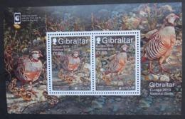 Gibraltar  Block    Europa  Cept   Nationale Vögel   2019    ** - 2019