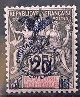 NOUVELLE CALÉDONIE 1903 CINQUANTENAIRE, Type Groupe Yvert No 87, 20 C Sur 25 C Noir Sur Rose VARIETE Neuf * MH   TTB - Neufs