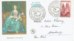"""1957 - Oblitération Temporaire """"Xie SALON PHILATELIQUE D'AUTOMNE"""" à Paris - Peinture Et Philatélie - Cachets Commémoratifs"""