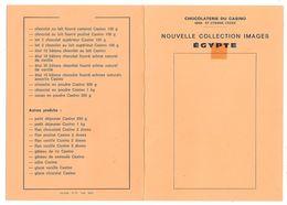 ST ETIENNE - CHOCOLATERIE DU CASINO - COLLECTION IMAGES ÉGYPTE - Liste De Articles - Avec 5 Images - Vieux Papiers