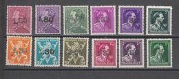 COB 724X / 724W ** Neuf Sans Charnière MNH Série Complète 12 Valeurs Dite De Ghislenghien - 1946 -10%