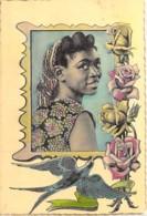 """BURUNDI : Jeune Femme - Jolie Carte Colorisée """" Vernie """" Fantaisie - CPSM Dentelée Format CPA 1962- Afrique Noire Africa - Burundi"""
