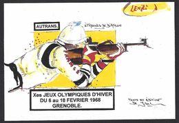 CPM Grenoble Jeux Olympiques 1968 Tirage Limité En 30 Exemplaires Numérotés Par LENZI Autrans - Jeux Olympiques