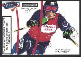 CPM Grenoble Jeux Olympiques 1968 Tirage Limité En 30 Exemplaires Numérotés Par LENZI Chamrousse - Jeux Olympiques