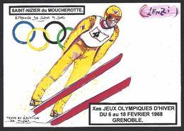 CPM Grenoble Jeux Olympiques 1968 Tirage Limité En 30 Exemplaires Numérotés Par LENZI Saint Nizier Du Moucherotte - Jeux Olympiques