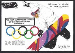 CPM Grenoble Jeux Olympiques 1968 Tirage Limité En 30 Exemplaires Numérotés Par LENZI - Jeux Olympiques