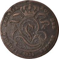 Monnaie, Belgique, Leopold I, 5 Centimes, 1834, TB, Cuivre, KM:5.1 - 1831-1865: Leopold I