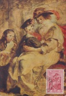 Carte  Maximum  1er  Jour   BELGIQUE   Oeuvre  De   RUBENS    1939 - Rubens