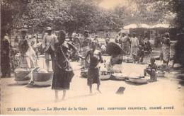 TOGO - LOME : Le Marché De La Gare - CPA -  Afrique Noire - Black Africa ( Market – Markt - Mercado ) - Togo