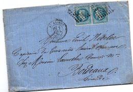 Saint-Brieuc 1870 - Lettre Pour Le Capitaine Du Trois-Mâts Amiral Charner - Timbres Napoléon III - Marcophilie (Lettres)