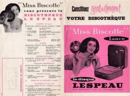 PUB-VOTRE DISCOTHEQUE- MISS BISCOTTE LANCE LE DISQUE LESPEAU - France