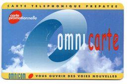 Ancienne Carte Prépayée OMNICARTE / Réf.OMN PR 1  (Voir Photos Recto/verso Et Description) - France