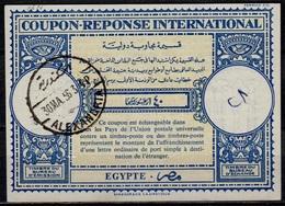 EGYPT / EGYPTE Lo16n40 MilliemesInternational Reply Coupon Reponse Antwortschein IAS IRC O ALEXANDRIE 30.03.56 - Cartas