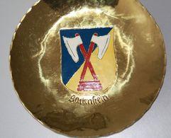 Sammelteller Aus Messing Wappen Ostpreussen Bartenstein 14 Cm Durchmesser Aus Einer Alten Manufactur In Danzig - Other Collections