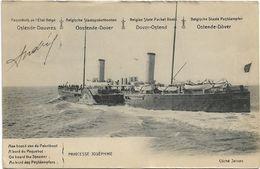 Oostende  *   Paquebots  De L'Etat Belge (Ligne Ostende - Douvres)  - Princesse Joséphine  (10ct - 1910) - Stamped Stationery