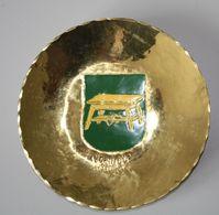 Sammelteller Aus Messing Wappen Ostpreussen Ebenrode 14 Cm Durchmesser Aus Einer Alten Manufactur In Danzig - Other Collections