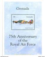 GRENADA. 1993.M. 2694-2695 + Bl. 357  75th ANNIVERSARY OF ROYAL AIR FORCE - Vliegtuigen