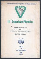 Catálogo Da 3ª Exposição Filatélica Da Companhia Das Águas De Lisboa, Em 1972. Aqueduto Das Águas Livres. Logo Da CAL - Livre De L'année