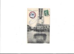 13  MARSEILLE PONT A TRANSBORDEUR  LA NACELLE EN COURS DE ROUTE CACHET ET TIMBRE 22 JANVIER 1908 - Joliette, Zone Portuaire