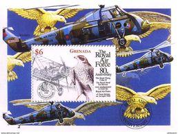 Grenade Grenada 1998 RAF Royal Air Force 80 Ans Years Bristol F2b Brisfit Birds Of Prey - Vliegtuigen