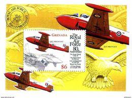 Grenade Grenada 1998 RAF Royal Air Force 80 Ans Years Hunting Jet Provost Birds Of Prey - Vliegtuigen