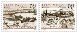 Lithuania.2017.Europa CEPT.Castles.2 V. ** - 2017