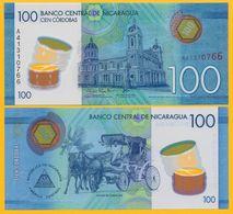 Nicaragua 100 Cordobas P-212 2014 UNC Polymer Banknote - Nicaragua