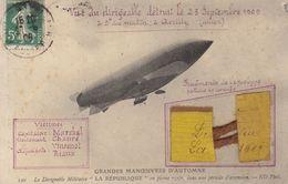 Dirigeable La Republique Détruit à Avrilly Avec Fragments Du Cordage    ///  Ref.  Juin   20  /// N° 11.812 - Dirigibili
