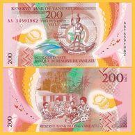 Vanuatu 200 Vatu P-12 2014 UNC Banknote - Vanuatu