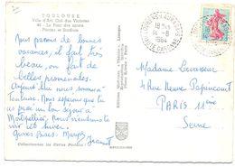 France Carte Obl Loubens Lauragais Haute Garonne - Poststempel (Briefe)