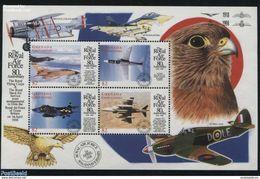 Grenada Grenadines 1998 M. 2798- 2801Royal Air Force 4v M/s, (Mint NH), Aircraft & Aviation - Birds Of Prey - Transport - Vliegtuigen